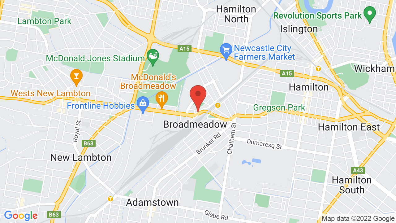 Map for Newcastle Entertainment Centre