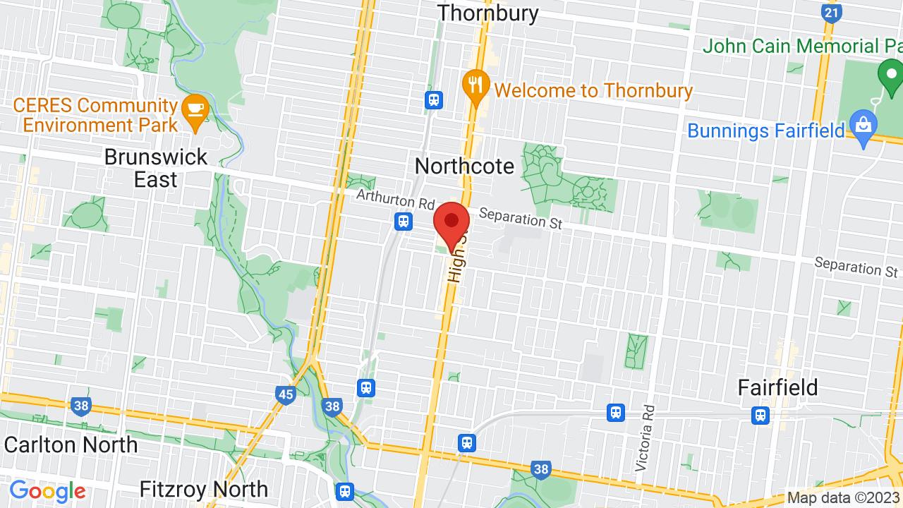 Map for Northcote Social Club