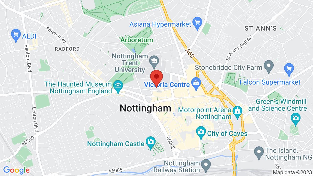 Map for Nottingham Rock City