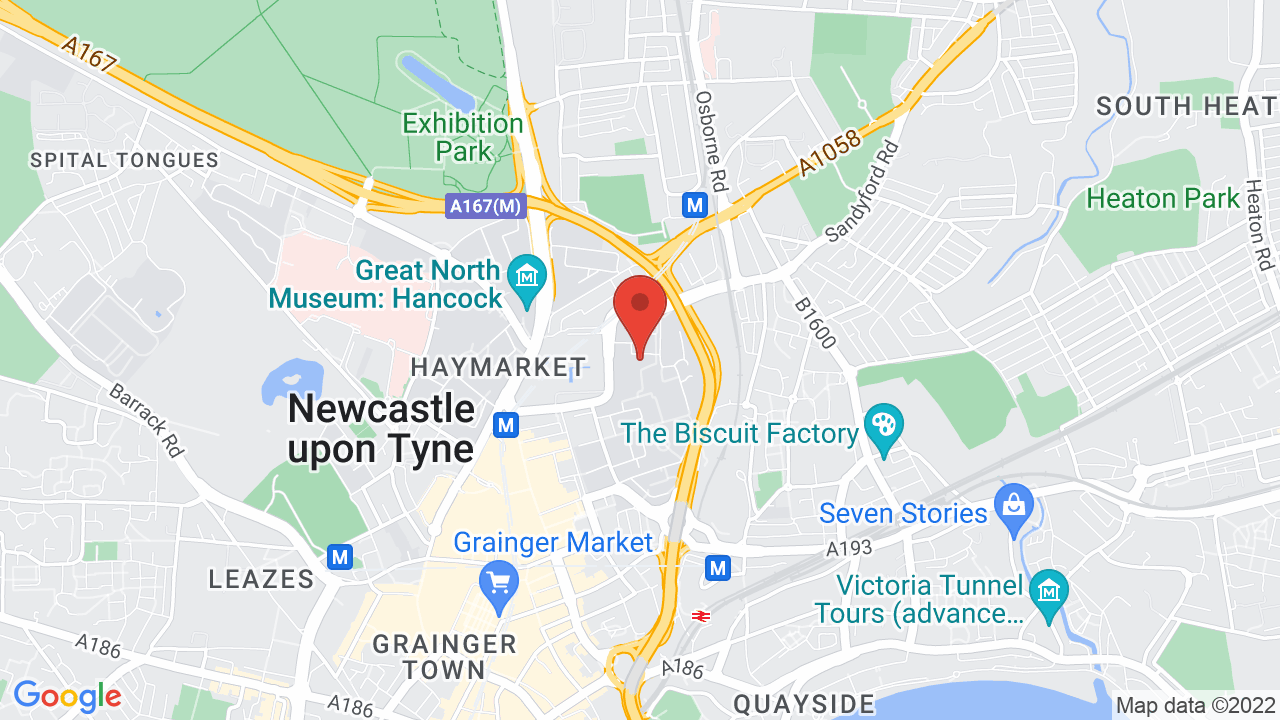 Map for Northumbria University