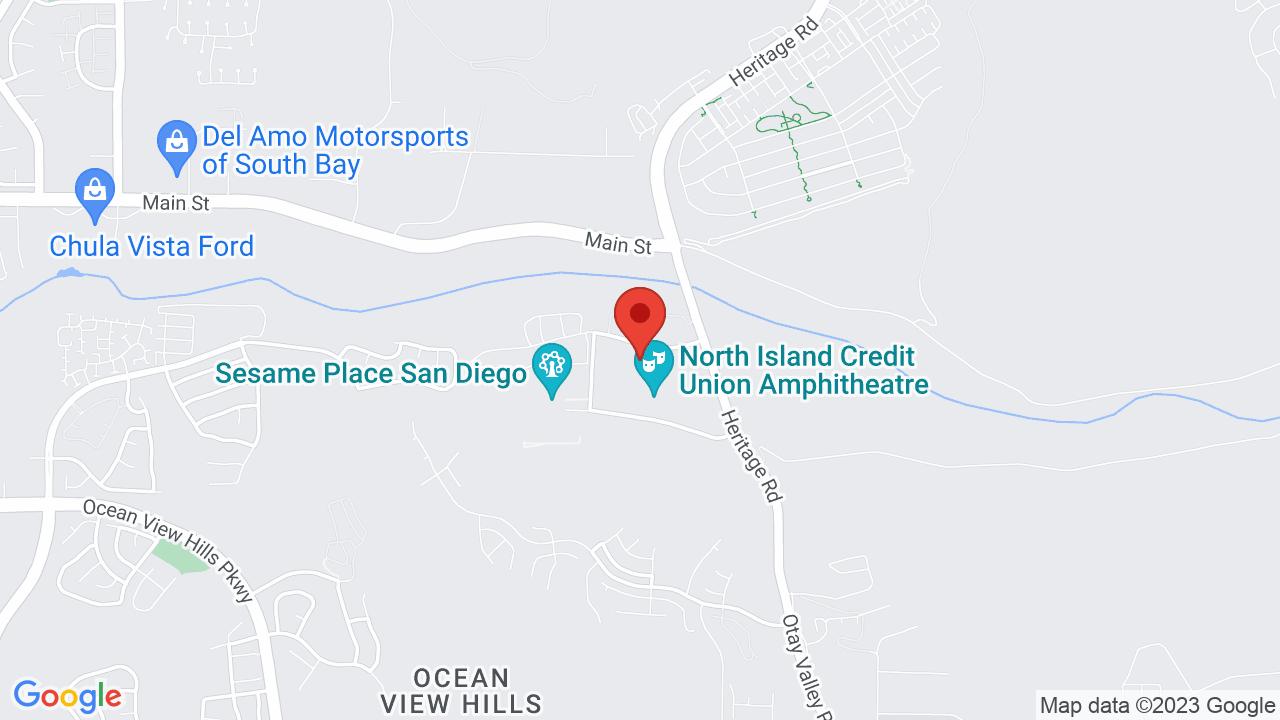 Map for North Island Credit Union Amphitheatre
