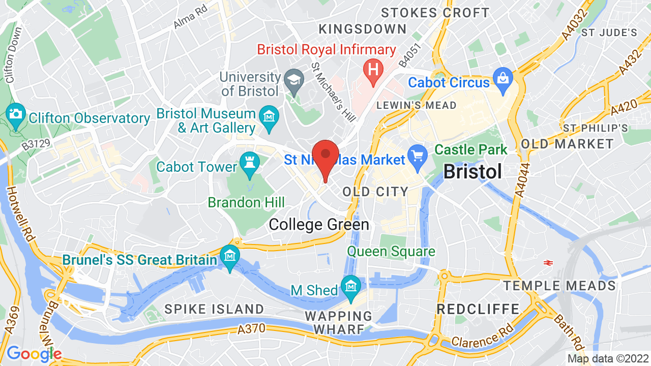 Map for O2 Academy Bristol