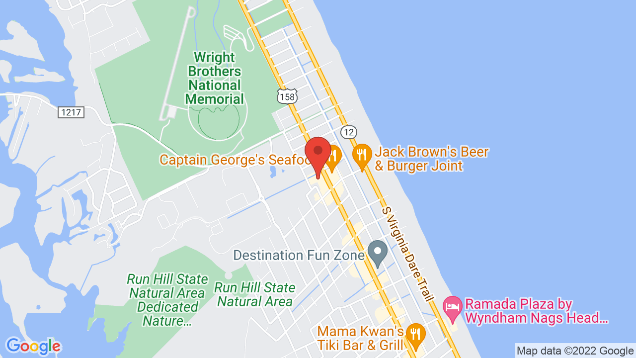 Map for Outer Banks Brewing Station
