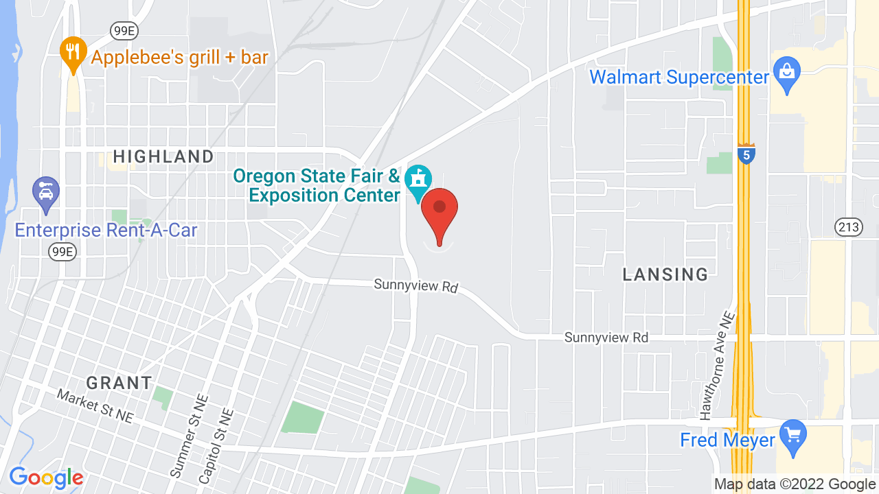 Map for Oregon State Fairgrounds