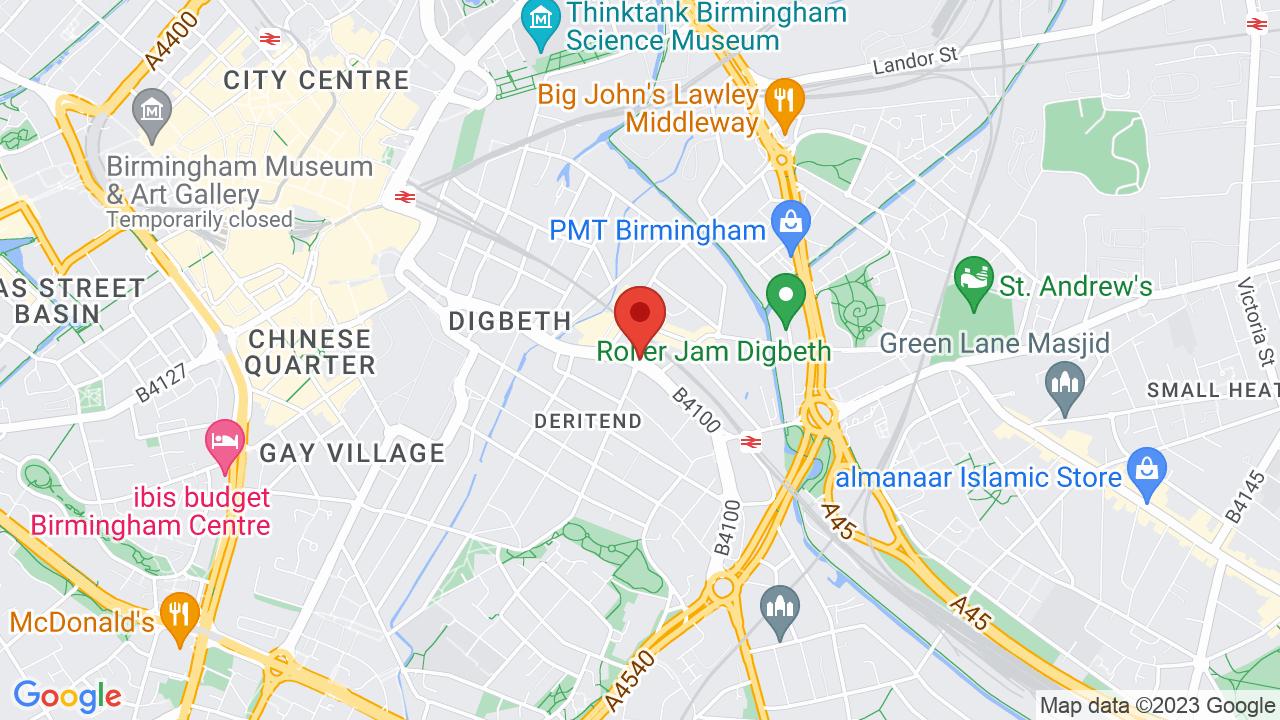 Map for O2 Institute Birmingham