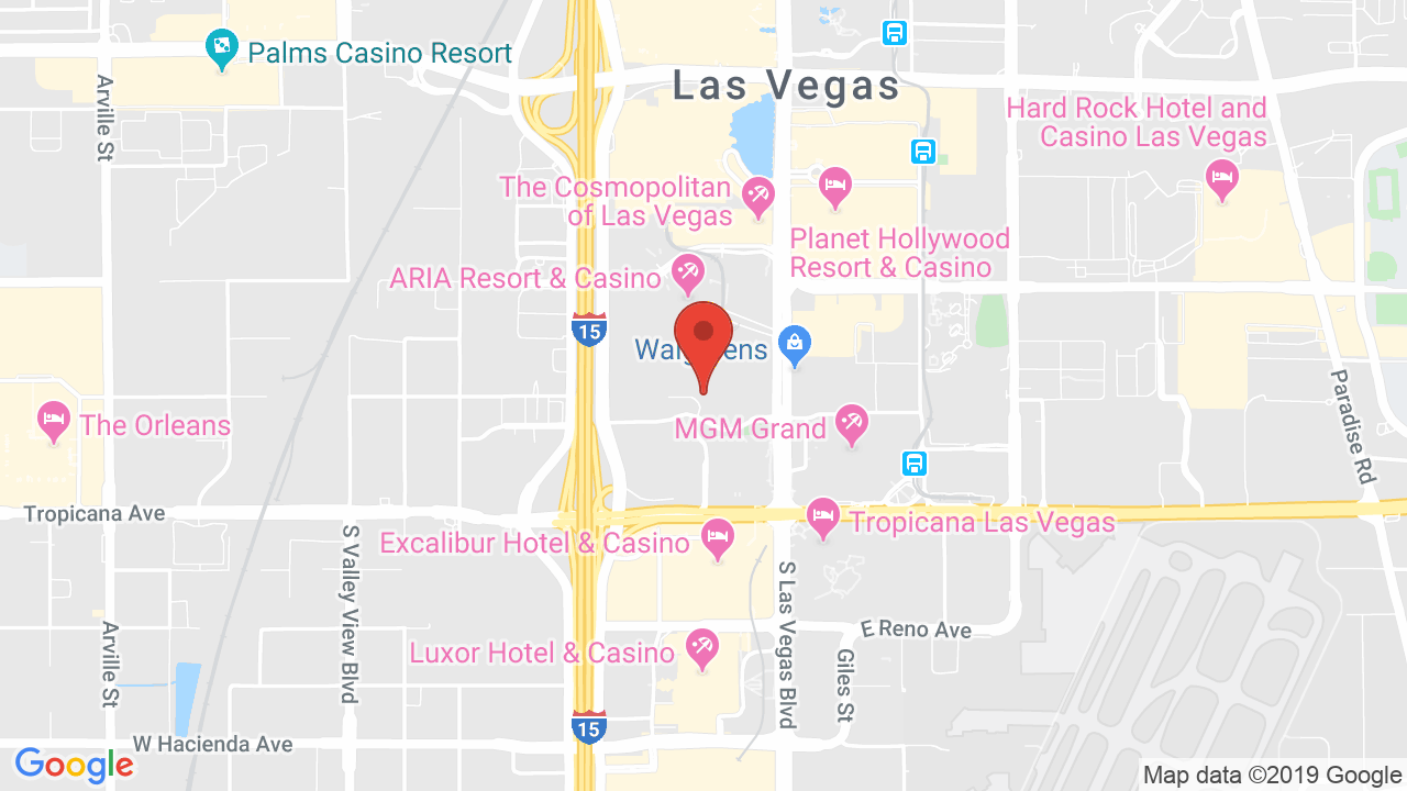 Map for Park Theater at Monte Carlo Resort and Casino