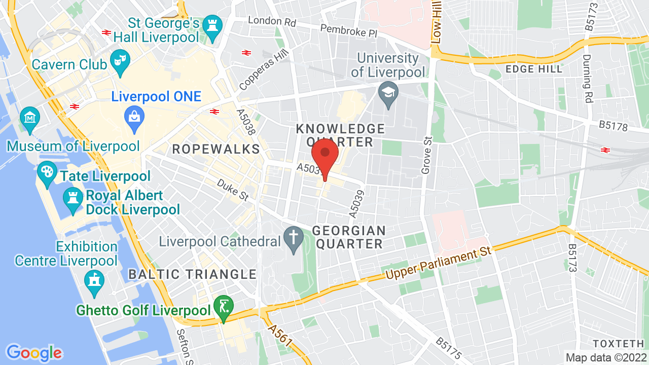 Map for Philharmonic Hall