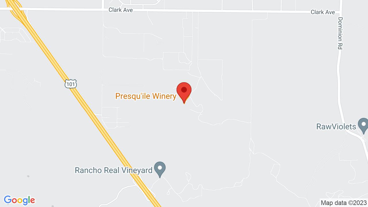 Map for Presqu'ile Winery
