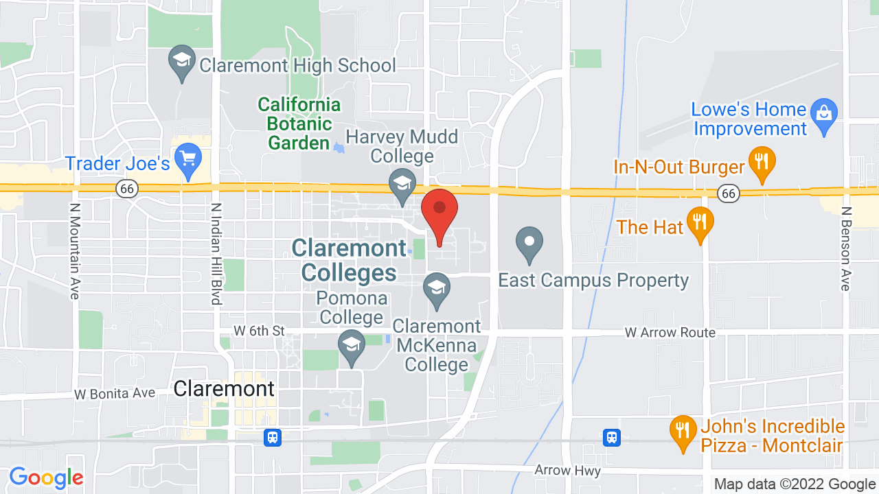 Map for Pitzer College