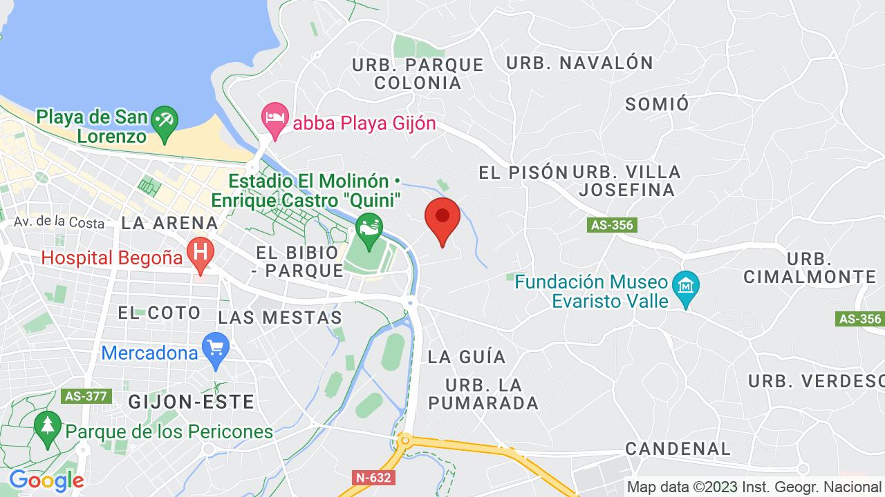 Map for Palacio de Deportes de Gijón