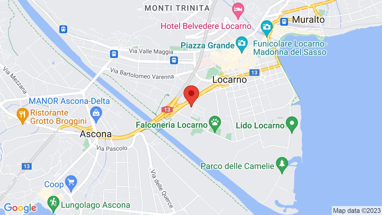 Map for Palexpo Locarno