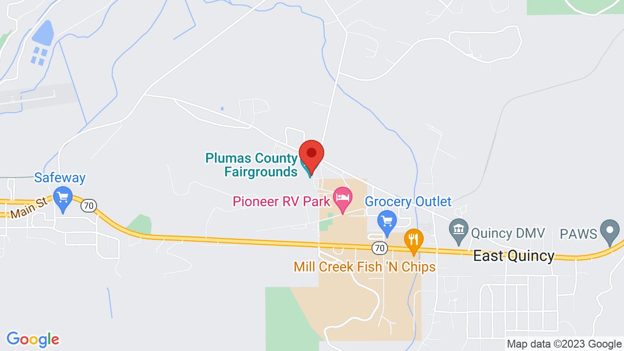 Map for Plumas County Fairgrounds