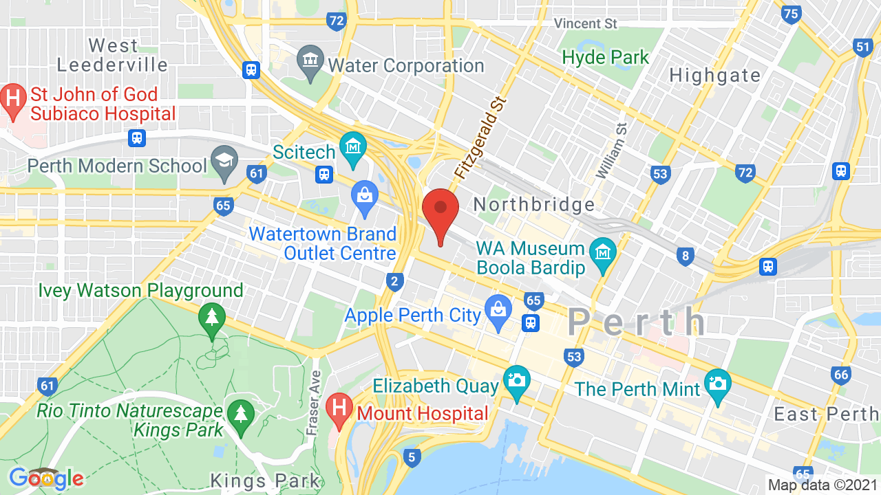 Map for Perth Arena