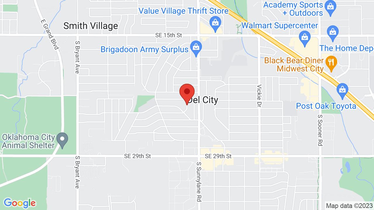 Map for Rose State College Hudiburg Chevrolet Center