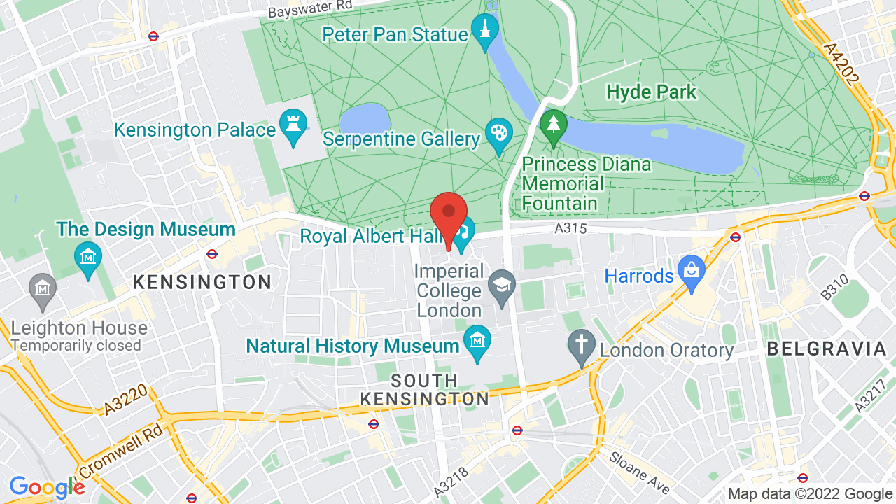 Map for Royal Albert Hall