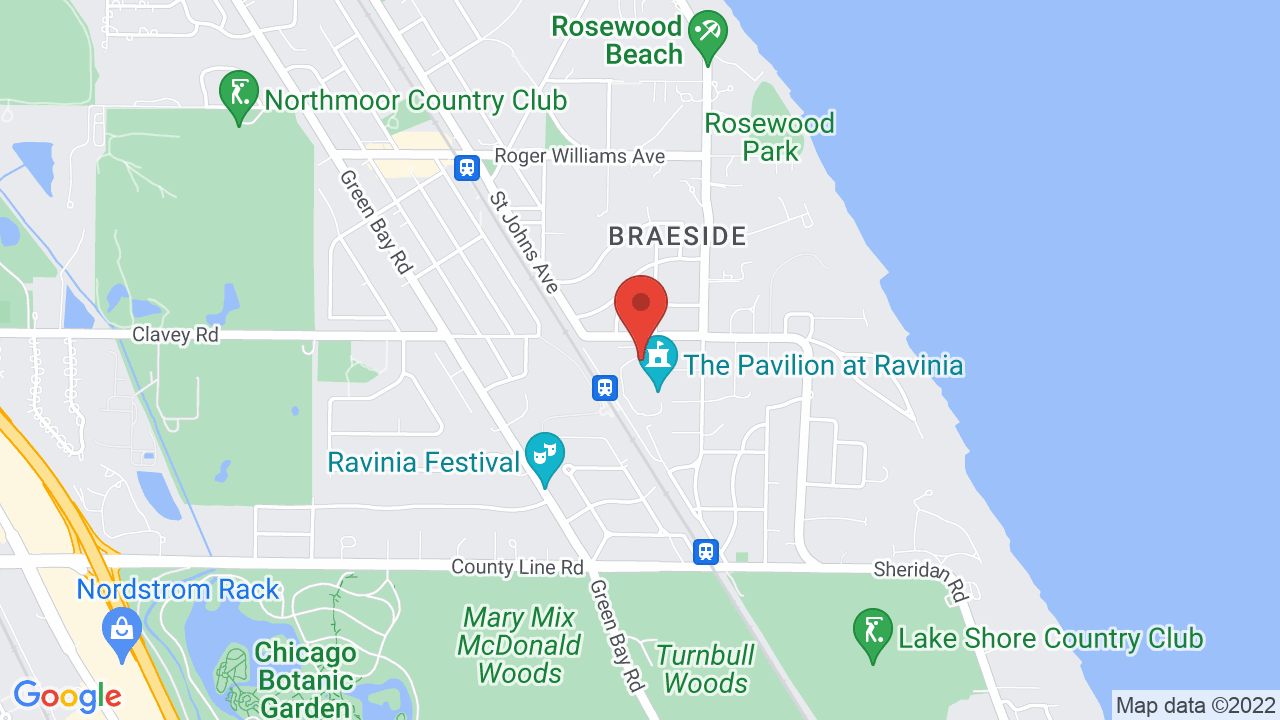 Map for Ravinia Pavilion