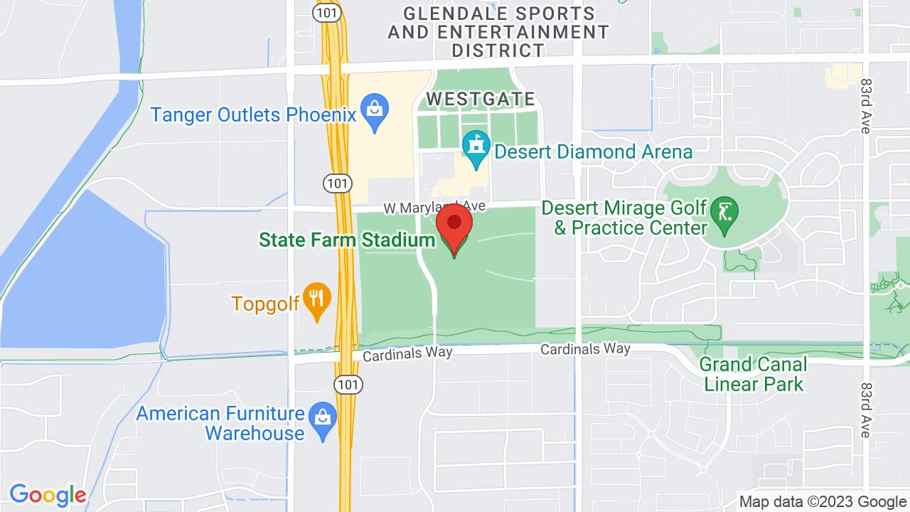 Map for State Farm Stadium