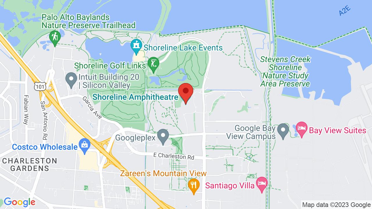Map for Shoreline Amphitheatre