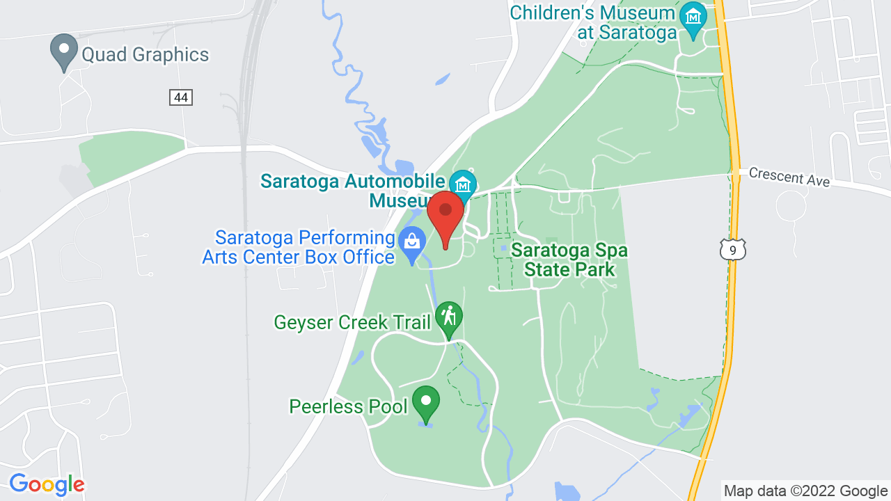 Map for Saratoga Performing Arts Center
