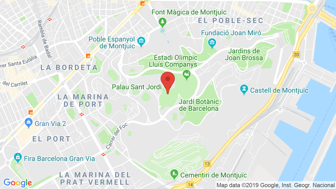Map for San Jordi