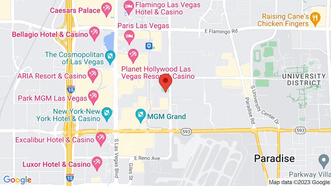 Map for Topgolf Las Vegas