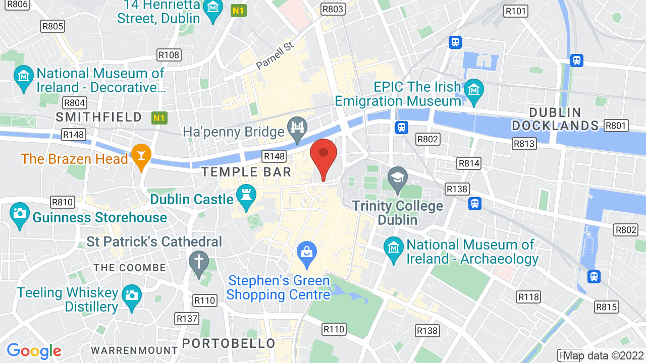 Map for Trinity College