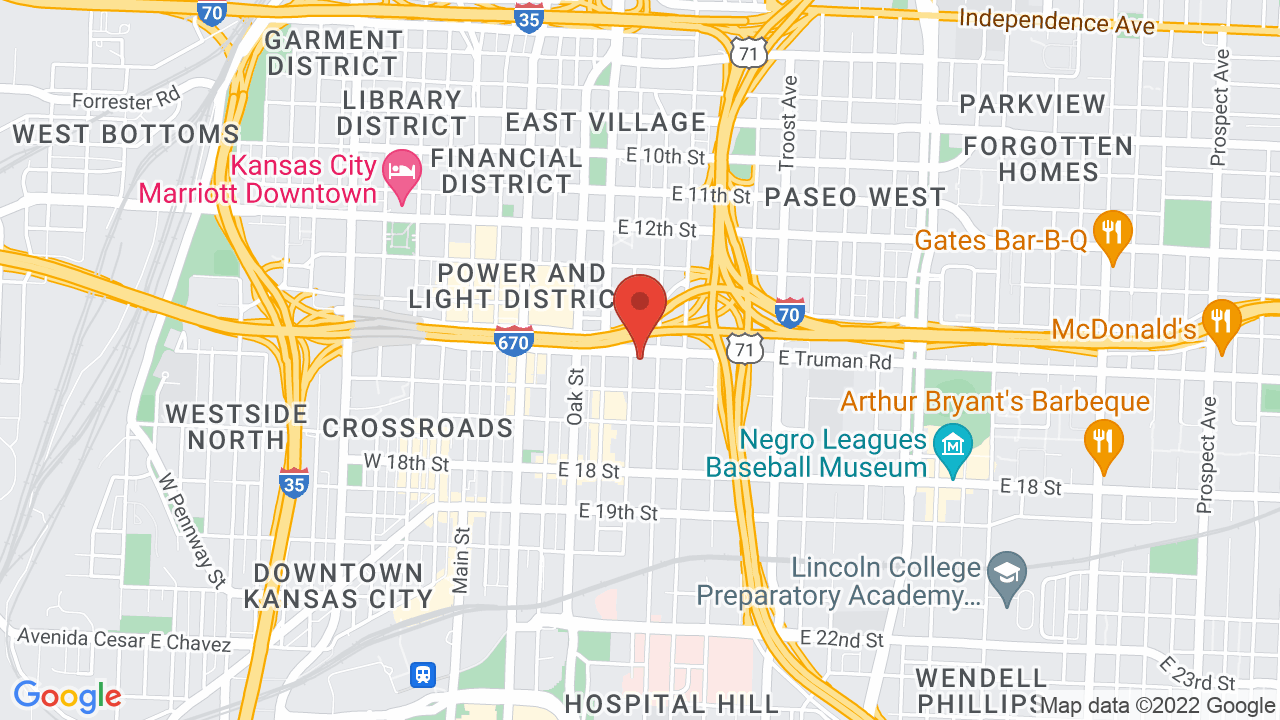 Map for The Truman KC