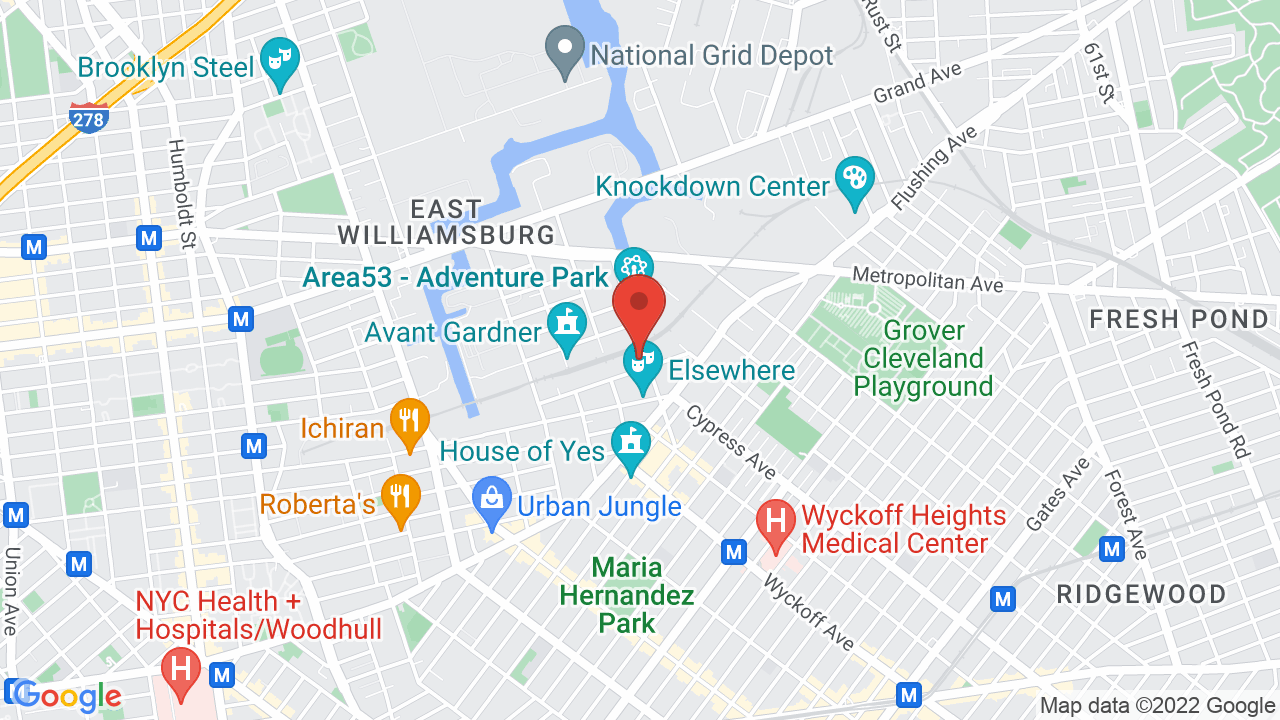 Map for The Brooklyn Mirage
