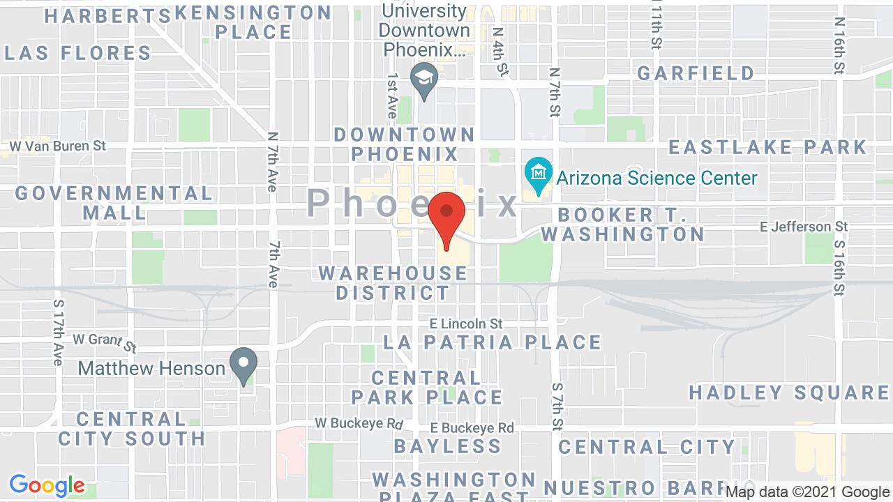 Map for Talking Stick Resort Arena