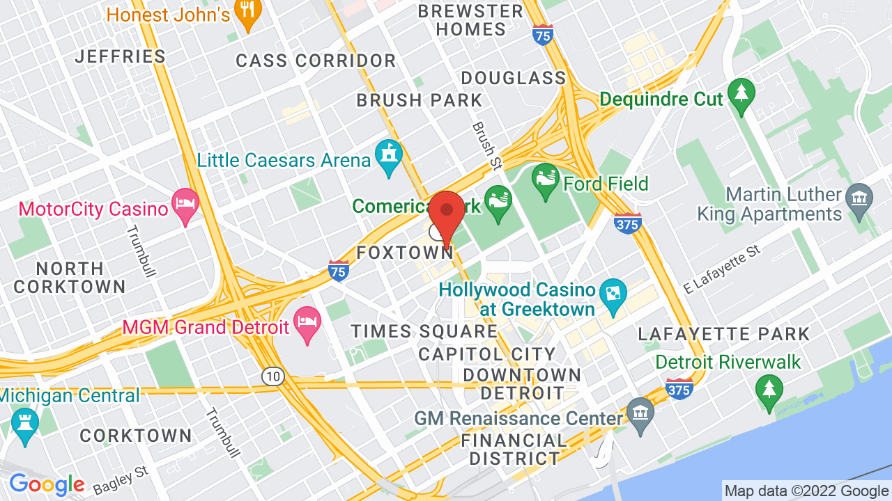 Map for The Fillmore Detroit