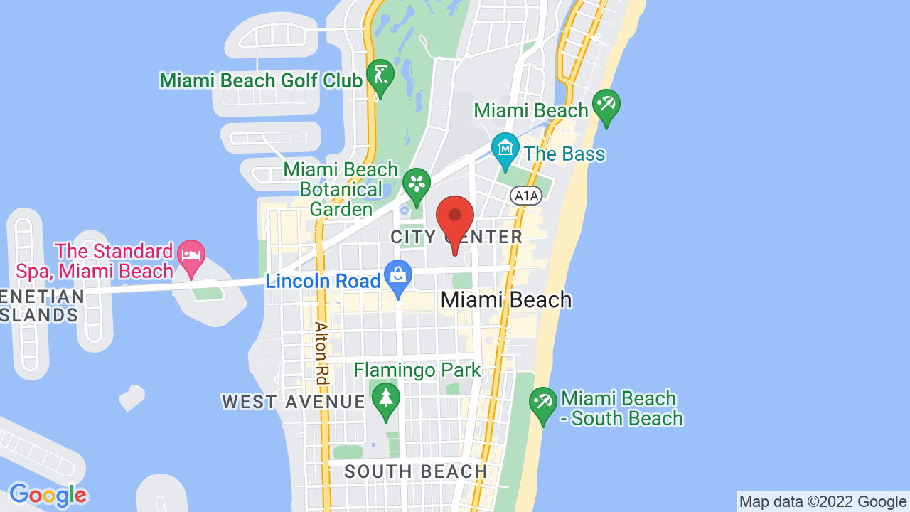 Map for The Fillmore Miami Beach at The Jackie Gleason Theater