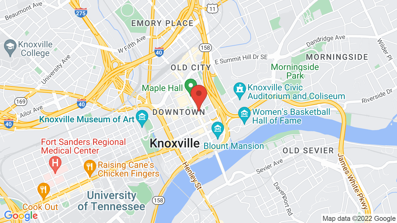 Map for Tennessee Theatre