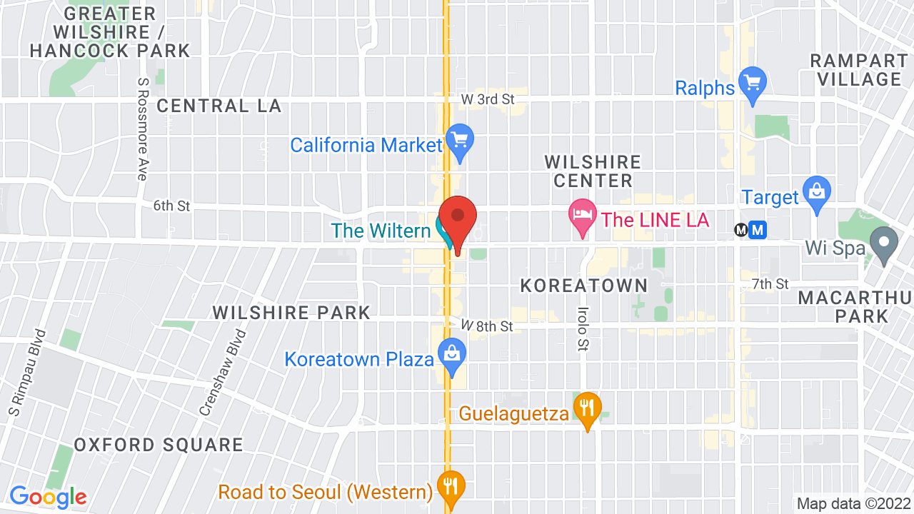 Map for The Wiltern