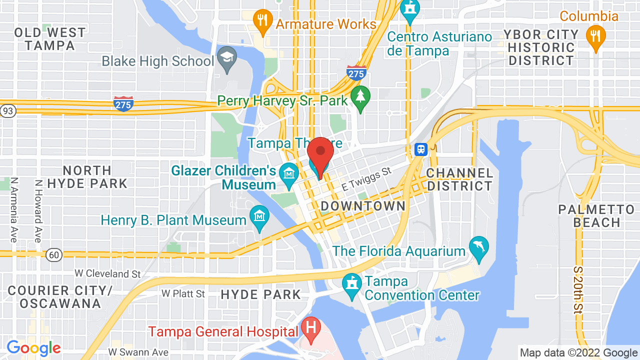 Map for Tampa Theatre