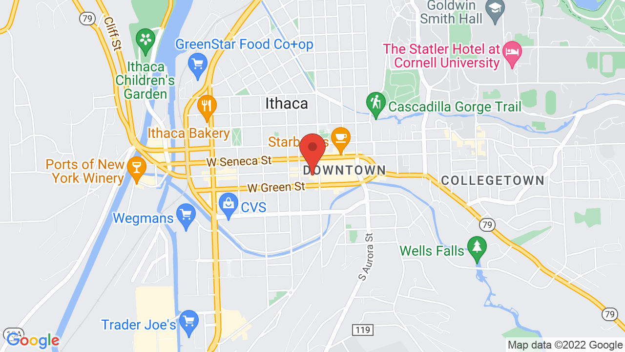 Map for The State Theatre of Ithaca