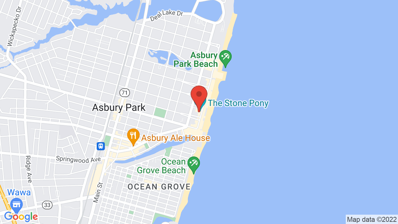 Map for The Stone Pony Summer Stage