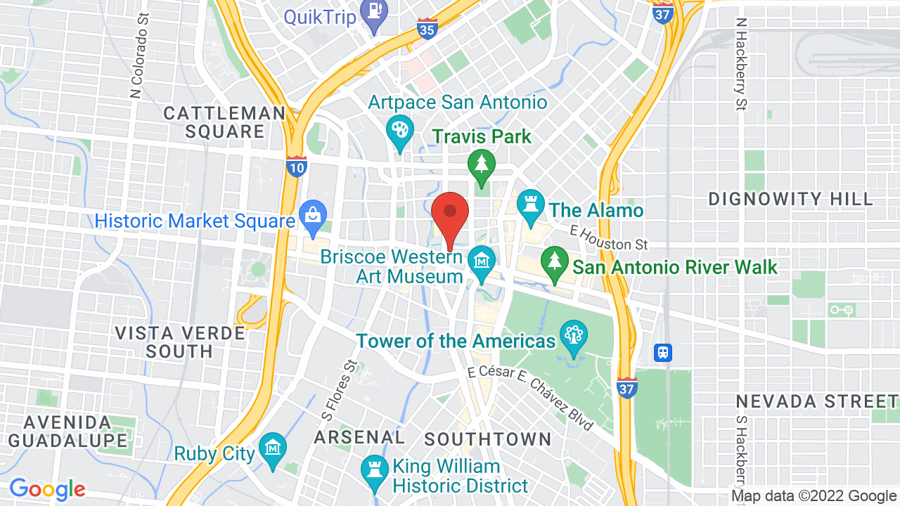 Map for The Aztec Theatre