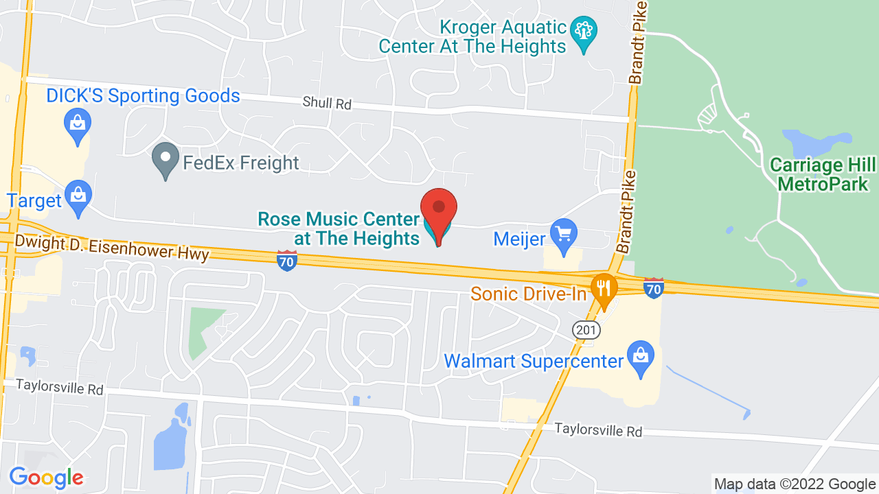 Map for The Rose Music Center at The Heights