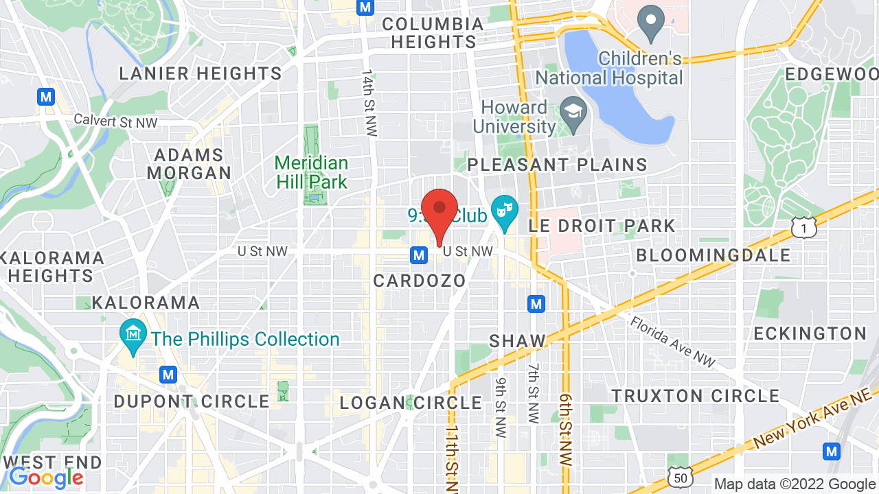 Map for U Street Music Hall