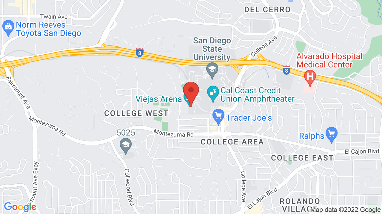 Map for Viejas Arena