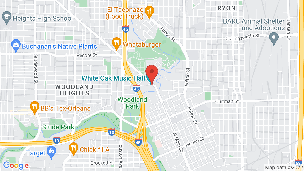 Map for White Oak Music Hall