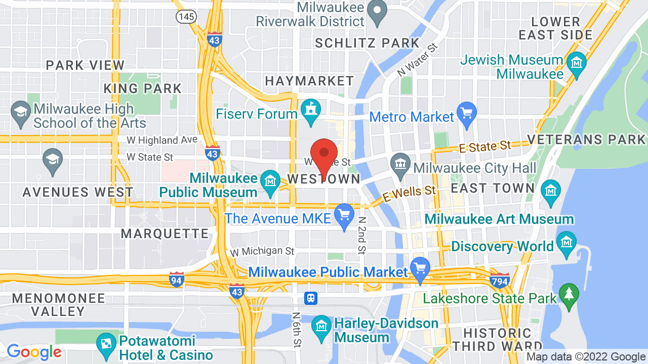 Map for Wisconsin Entertainment and Sports Center