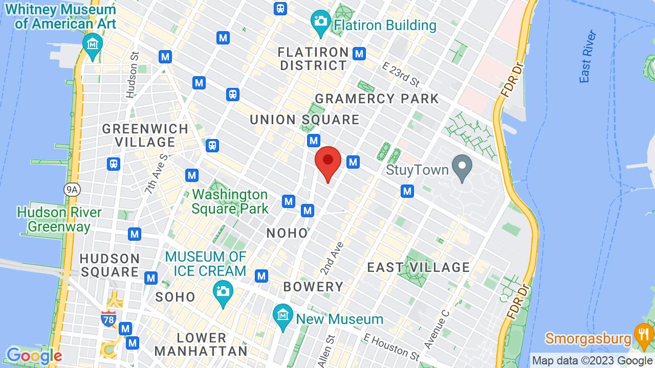 Map for Webster Hall