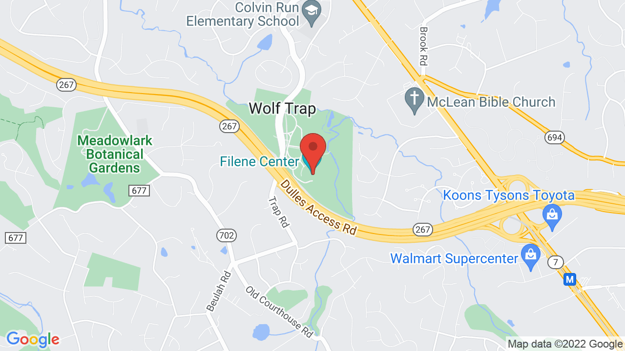 Map for Wolf Trap