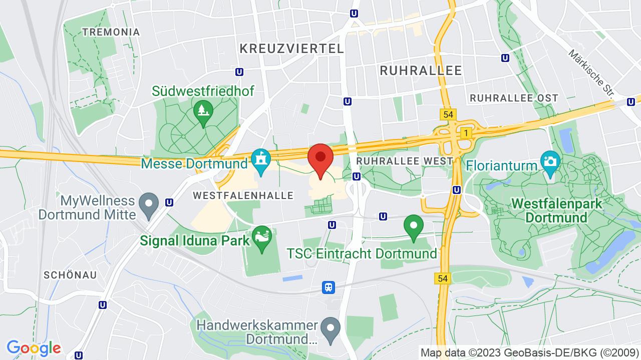 Map for Westfalenhalle