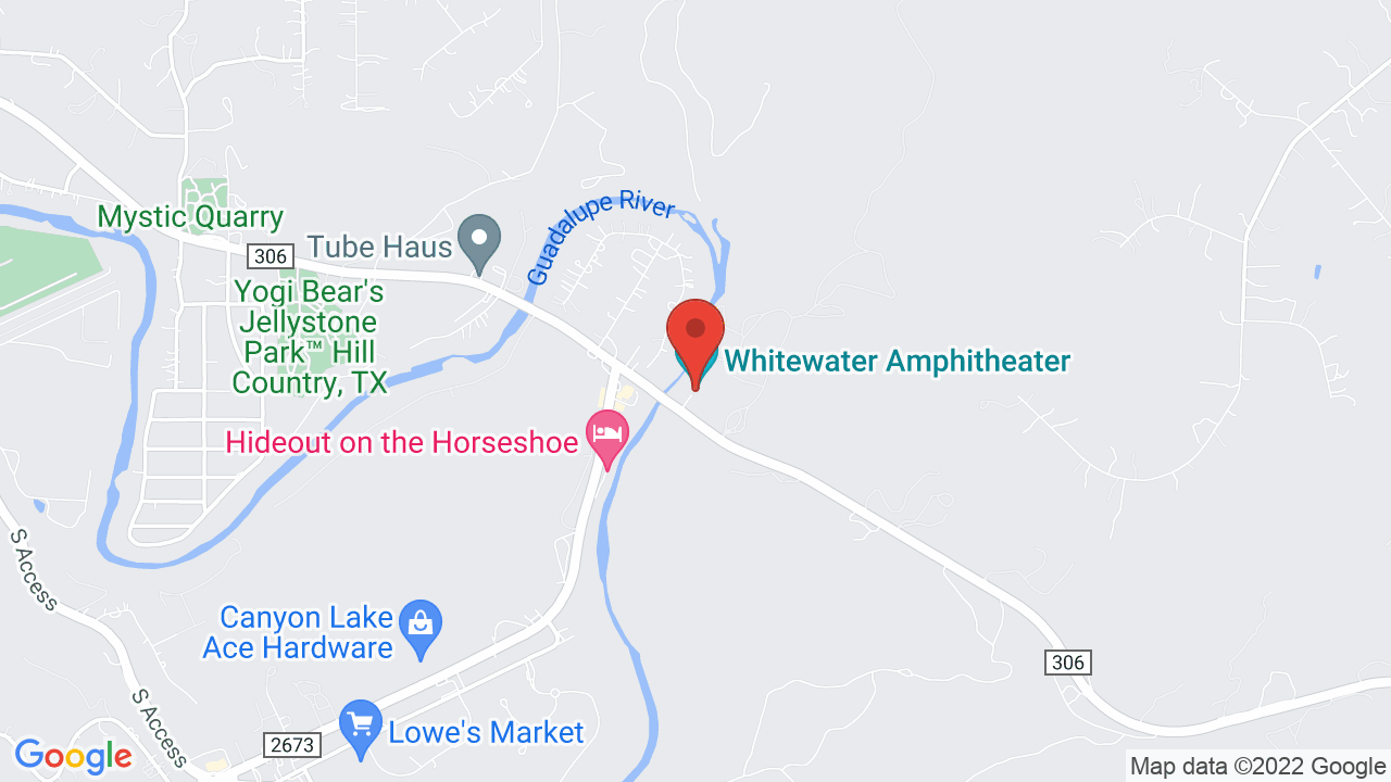 Map for Whitewater Amphitheater