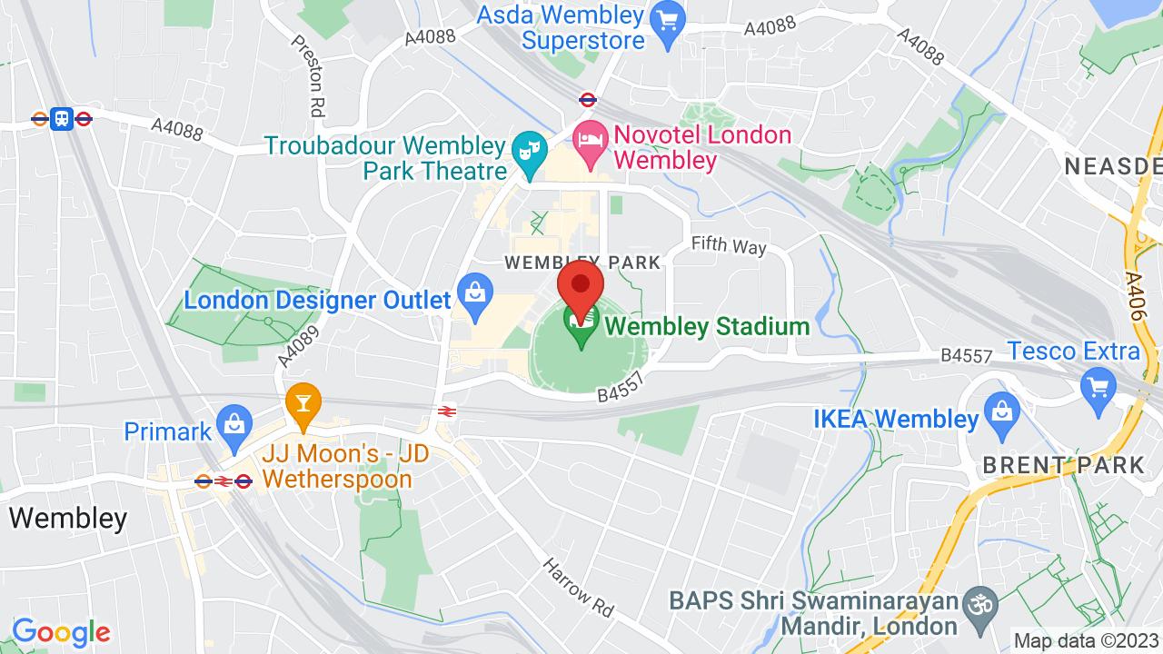 Map for Wembley Stadium