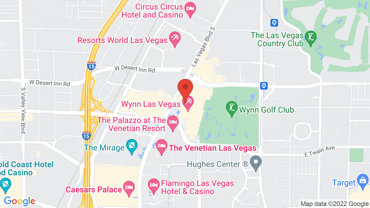 Map for XS Nightclub
